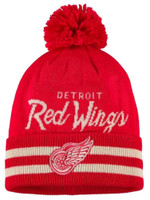Adidas Men's NHL Detroit Red Wings Stocking Knit Hat Beanie Winter Cold Weather
