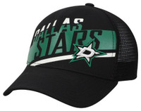 Adidas NHL Hockey Dallas Stars Trucker Cap Hat Laser Cut Logo Mesh Back Texas TX