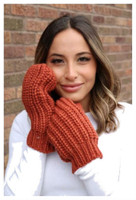 Panache Accessories Women's Cable Knit Fleece Lined Mitten Fashion Glove Orange