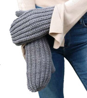 Panache Accessories Women's Cable Knit Fleece Lined Mitten Fashion Glove Gray
