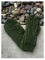 Panache Accessories Women's Cable Knit Fleece Lined Mitten Fashion Glove Green