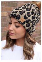 Panache Women's Leopard Knit Hat Cap Princess Crown Tag Accent Fur Pom Brown