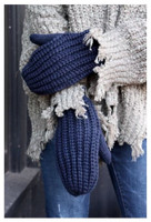 Panache Accessories Women's Cable Knit Fleece Lined Mitten Fashion Glove Navy