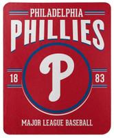 "Northwest MLB Fleece 50""x60"" Throw Blanket Baseball SouthPaw - Philadelphia Phillies"