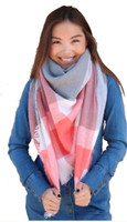"Panache Accessories Blanket Scarf Scarves Shall Fringe 55""x56"" Peach Stripe"