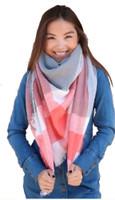 "Panache Accessories Blanket Scarf Scarves Shall Fringe 55""x56"" Peach Stripe"