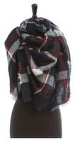 "Panache Accessories Blanket Scarf Scarves Shall Fringe 55""x56"" Scottish Plaid"