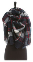 "Panache Accessories Blanket Scarf Scarves Shall Fringe 55""x56"" Scottish Plaid"
