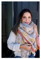 """Panache Accessories Blanket Scarf Scarves Shall Fringe Edge 58""""x56"""" Yellow Star"""