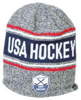 USA Hockey 15th Anniversary Beanie Cap Stocking Knit Hat Winter Sport Ski Tubing