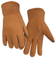 Northstar Men's Split Leather Glove HeatLok Lined Shirred Wrist Mitt Tan 56BR