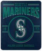 "Northwest MLB Fleece 50""x60"" Throw Blanket Baseball SouthPaw - Seattle Mariners"