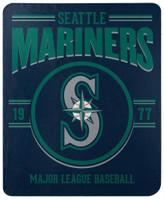 "Northwest MLB Fleece 50""x60"" Throw Blanket Baseball SouthPaw - Seattle Mariners"