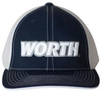 Worth 404M Softball Trucker Flex Fit Hat Cap Baseball Mesh Back Navy