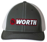 Worth 404M Softball Trucker Flex Fit Hat Cap Baseball Mesh Back Gray/Red