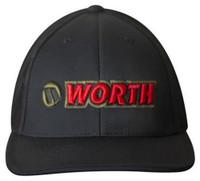 Worth 404M Softball Trucker Flex Fit Hat Cap Baseball Mesh Back Black/Red