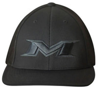 Miken 404M Softball Trucker Flex Fit Hat Cap Baseball Mesh Back Black