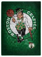 "Northwest NBA Boston Celtics Street Raschel Blanket Plush Throw 60"" x 80"" MA"