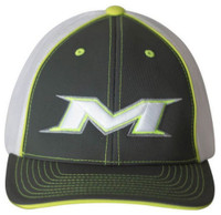 Miken 404M Softball Trucker Flex Fit Hat Cap Baseball Mesh Gray/White/Neon