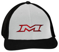 Miken 404M Softball Trucker Flex Fit Hat Cap Baseball Mesh Back Black/White