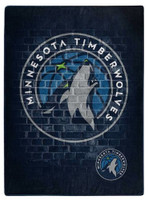 Northwest NBA Minnesota Timberwolves Street Raschel Blanket Plush Throw 60 x 80""