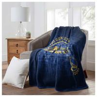 """Northwest NBA Golden State Warriors Street Raschel Blanket Plush Throw 60 x 80"""""""