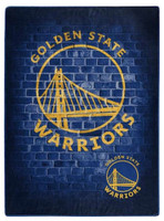Northwest NBA Golden State Warriors Street Raschel Blanket Plush Throw 60 x 80""