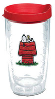 Tervis Peanuts Snoopy Stripe 16 oz. Plastic Thermal Tumbler Travel Cup Mug USA