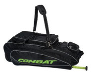 Combat Maxum Signature Roller Bag Baseball/Softball Adult Black/Lime 80400049