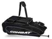 Combat Maxum Signature Roller Bag Baseball/Softball Adult Black/White 80400051