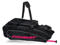 Combat Maxum Signature Roller Bag Baseball/Softball Adult Black/Pink 80400050