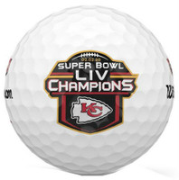 Wilson Staff NFL Super Bowl Champions Kansas City Chiefs Golf Balls Doz Duo Soft