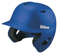 Wilson Collegiate 2.0 Batting Helmet Collegiate College Baseball (Royal, Size L)