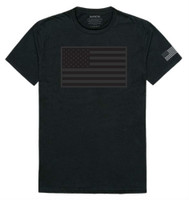 Rapid Dominance Men's USA Flag Tactical Graphics Tee T-Shirt Military Black/Gray