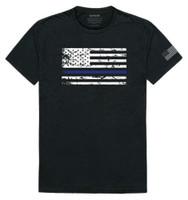 Rapid Dominance USA Flag Police Thin Blue Line Team America Tee T-Shirt