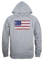 Rapid Dominance Men's USA Flag Team America Pullover Hoodie Hoody American Gray