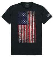 Rapid Dominance Men's Vertical USA Flag Team America Tee T-Shirt United States