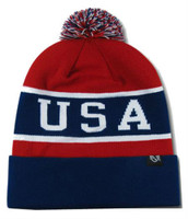 Rapid Dominance USA Flag Label Knit Beanie Fallen United States American Patriot