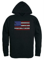 Rapid Dominance Men's USA Flag Team America Pullover Hoodie Hoody American Black