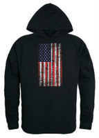 Rapid Dominance Men's Vertical USA Flag Pullover Hoodie Hoody American Black