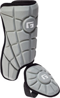 G-Form Youth Batter's Leg Guard Silver RH Hitter Batters Ankle Protection
