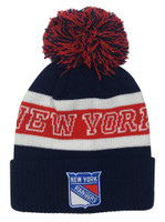 Adidas Men's New York Rangers NHL Hockey Knit Hat Beanie Skull Cap Winter Pom