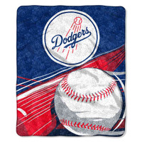 "Northwest MLB Fleece 50x60"" Throw Blanket Baseball Big Stick Los Angeles Dodgers"