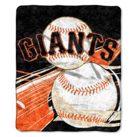 Northwest MLB Fleece 50x60 Throw Blanket Baseball Big Stick San Francisco Giants