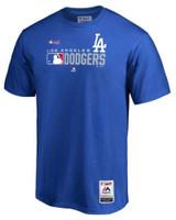 Fanatics Men MLB Los Angeles Dodgers Tee T-Shirt Crew Neck Short Sleeve Baseball