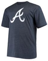 Fanatics Mens MLB Atlanta Braves Tee T-Shirt Crew Neck Short Sleeve Baseball