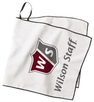 "Wilson Staff Caddie Tour Golfing Towel (16"" X 36"") Microfiber Hang Bag Loop"