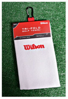 "Wilson Staff Microfiber Golfing Towel (16"" X 36"") Golf Bag Waffle-like weave"