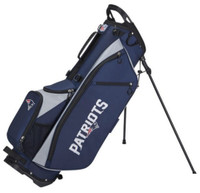 Wilson Staff NFL New England Patriots Carry Golf Bag Straps and Stand 4 Divider