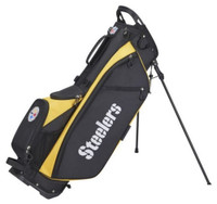 Wilson Staff NFL Pittsburgh Steelers Carry Golf Bag Straps and Stand 4 Divider